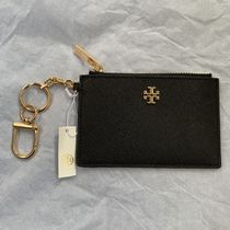 Tory Burch Chain Plain Leather Small Wallet Chain Wallet Logo