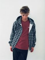 STUSSY Short Tartan Other Plaid Patterns Unisex Street Style