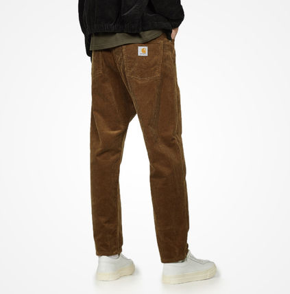 Carhartt Tapered Pants Corduroy Street Style Plain Logo Tapered Pants
