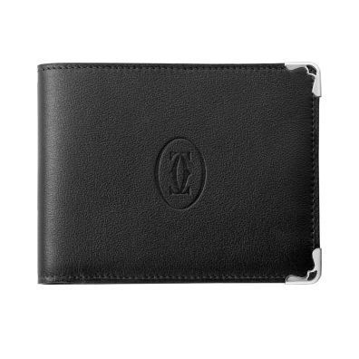 Calfskin Plain Folding Wallet Logo Folding Wallets