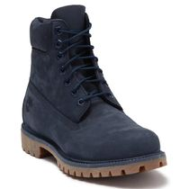 Timberland Street Style Plain Leather Logo Engineer Boots