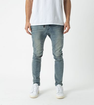 Ron Herman Unisex Denim Street Style Plain Cotton Joggers Jeans