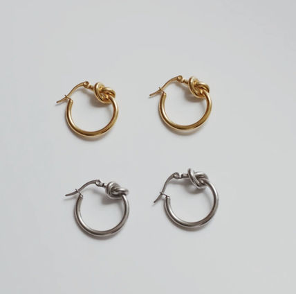 Casual Style 18K Gold Office Style Earrings