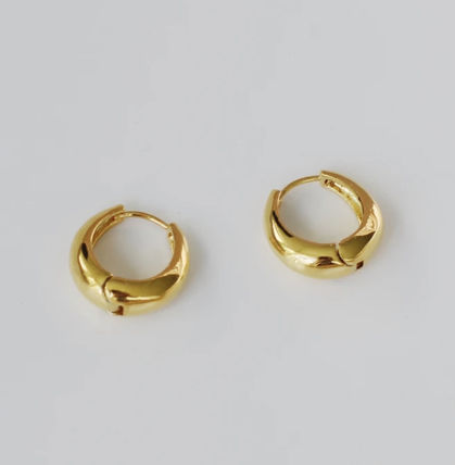 Costume Jewelry Casual Style 18K Gold Office Style Earrings