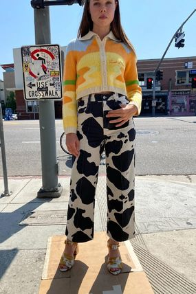 Denim Street Style Other Animal Patterns Jeans