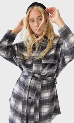 Other Plaid Patterns Casual Style Medium Bridal Jackets