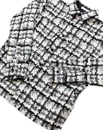 MNML Shirts Button-down Other Plaid Patterns Unisex Street Style 8