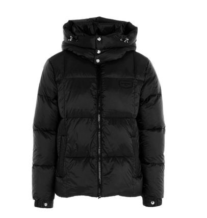Short Nylon Logo Down Jackets