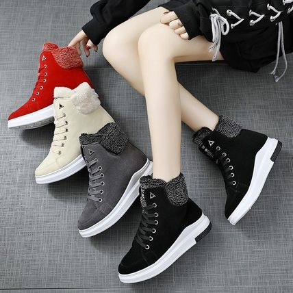 Platform Lace-up Shearling Lace-up Boots