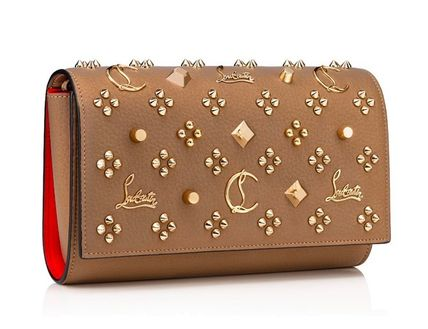 Christian Louboutin Paloma Monogram Casual Style Calfskin Chain Leather Party Style