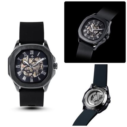 Street Style Mechanical Watch Co-ord Metallic Analog Watches