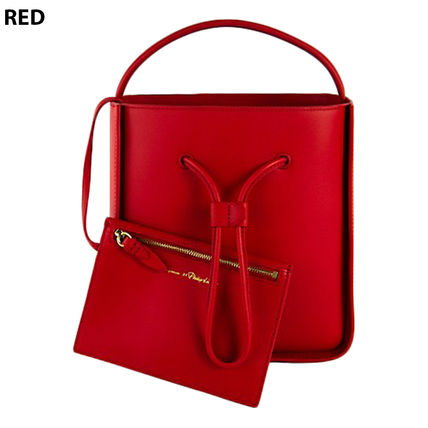 Casual Style Plain Leather Crossbody Formal Style  Logo