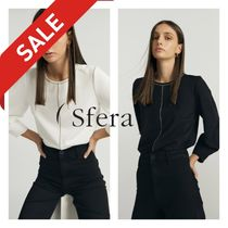 Sfera Casual Style Plain Medium With Jewels Office Style