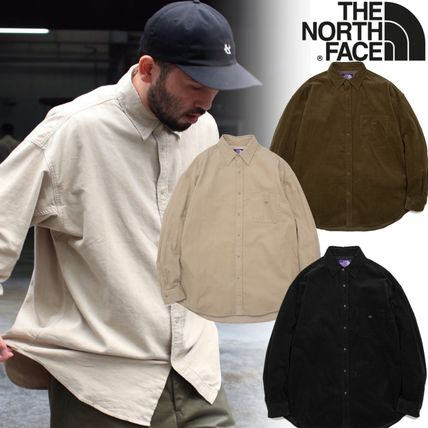 THE NORTH FACE Button-down Unisex Corduroy Collaboration Long Sleeves Plain