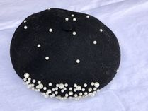 Blended Fabrics With Jewels Beret