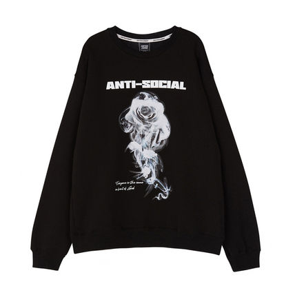 Unisex Street Style Long Sleeves Sweatshirts