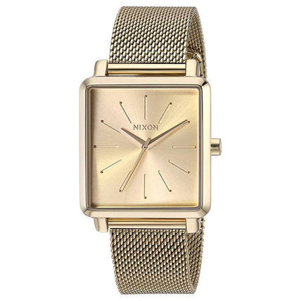 Nixon Casual Style Square Party Style Quartz Watches Stainless
