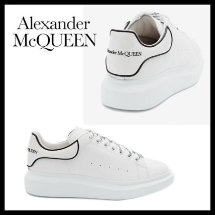 Unisex Street Style Plain Leather Oversized Dad Sneakers