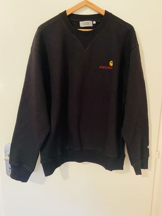 Carhartt Crew Neck Sweat Street Style Collaboration Long Sleeves