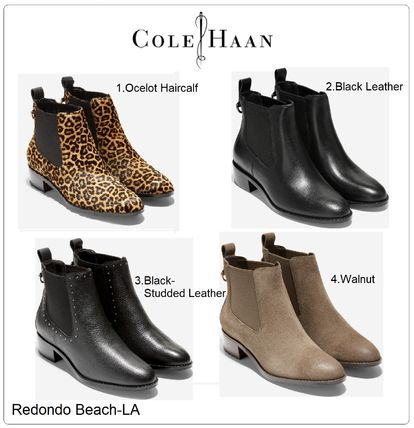 Cole Haan Leopard Patterns Suede Street Style Plain Leather