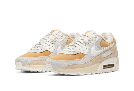Nike AIR MAX 90 Casual Style Unisex Faux Fur Blended Fabrics Street Style