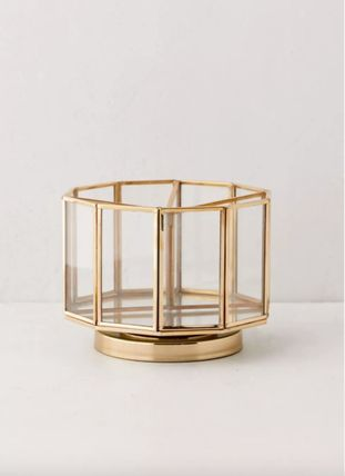 Urban Outfitters Unisex Make-up Organizer Jewelry Organizer Gold Furniture