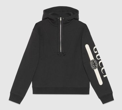 GUCCI Pullovers Unisex Sweat Street Style Bi-color Long Sleeves