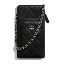 CHANEL Casual Style Leather Elegant Style Logo Clutches