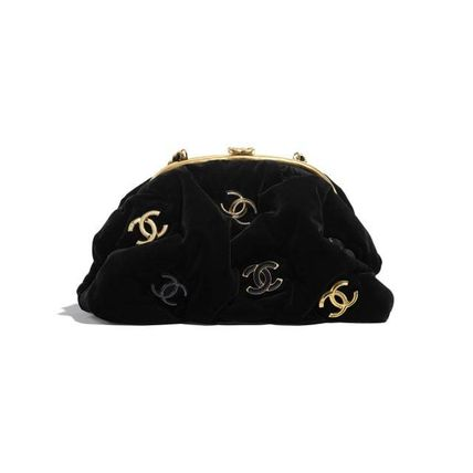 CHANEL Bi-color Chain Party Style Elegant Style Crossbody
