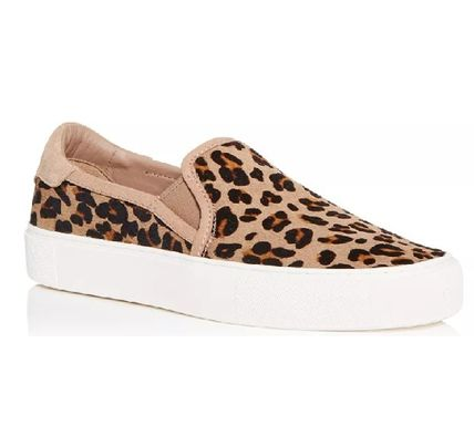 UGG Australia JASS Leopard Patterns Casual Style Leather Slip-On Shoes