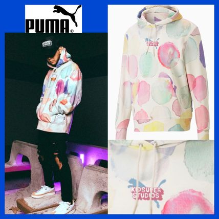 PUMA Hoodies Pullovers Dots Unisex Sweat Street Style Collaboration