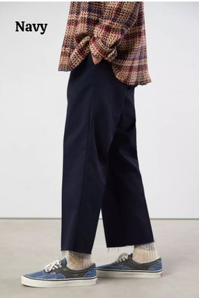 Dickies Street Style Collaboration Plain Cotton Logo Cropped Pants