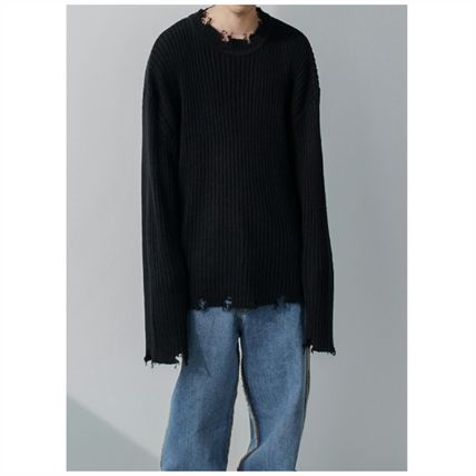 Sweaters Crew Neck Long Sleeves Plain Sweaters 2