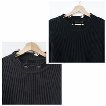 Sweaters Crew Neck Long Sleeves Plain Sweaters 4