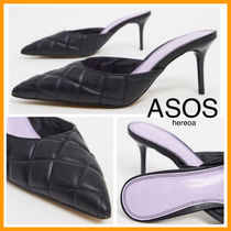 ASOS Faux Fur Plain Pin Heels Party Style Office Style