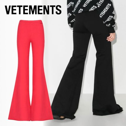 VETEMENTS Casual Style Maxi Plain Cotton Wide Leg Pants