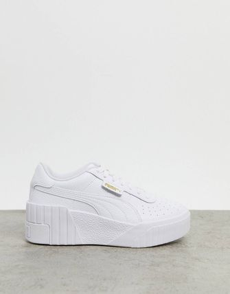 PUMA Platform Rubber Sole Lace-up Casual Style Street Style Plain