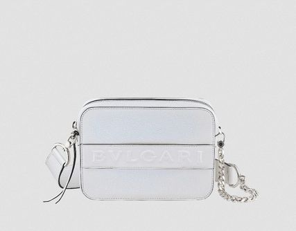 Casual Style 2WAY Chain Plain Crossbody Logo Shoulder Bags