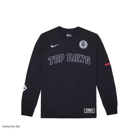 Long Sleeves Plain Cotton Logo Long Sleeve T-Shirts