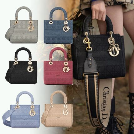 Christian Dior LADY DIOR Casual Style 2WAY Office Style Elegant Style Crossbody