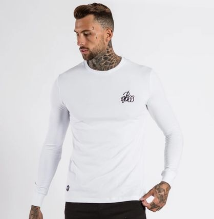 Crew Neck Street Style Long Sleeves Plain Cotton
