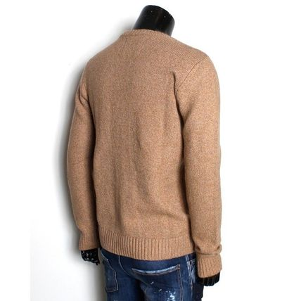 Crew Neck Long Sleeves Surf Style Sweaters