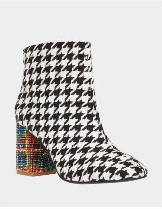 Other Plaid Patterns Zigzag Casual Style Block Heels