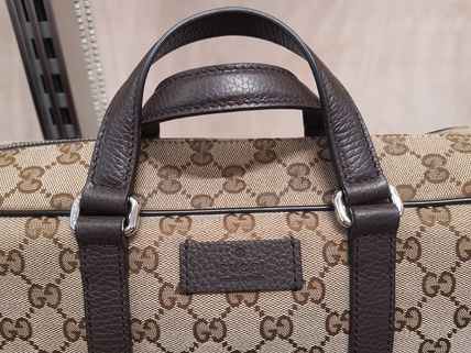 GUCCI Canvas 2WAY Leather Logo Business & Briefcases