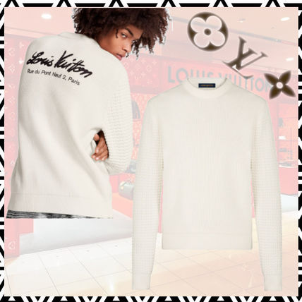 Louis Vuitton Sweaters Crew Neck Unisex Blended Fabrics Street Style Long Sleeves