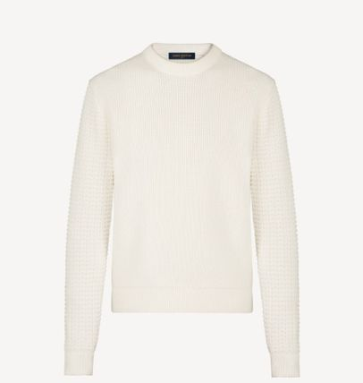 Louis Vuitton Sweaters Crew Neck Unisex Blended Fabrics Street Style Long Sleeves 2