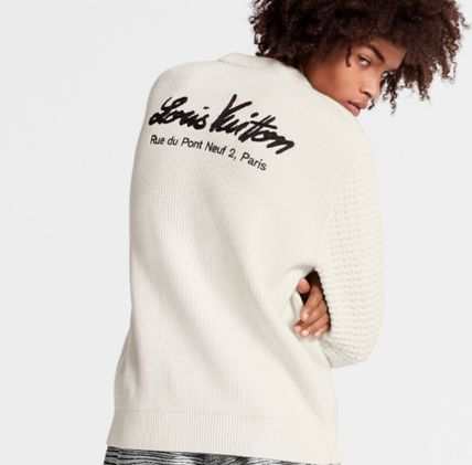 Louis Vuitton Sweaters Crew Neck Unisex Blended Fabrics Street Style Long Sleeves 3