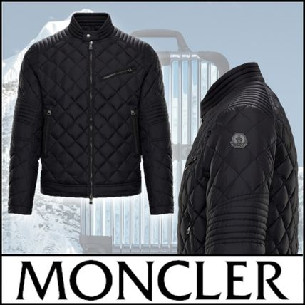 MONCLER BRETEUIL Nylon Blended Fabrics Street Style Plain Leather