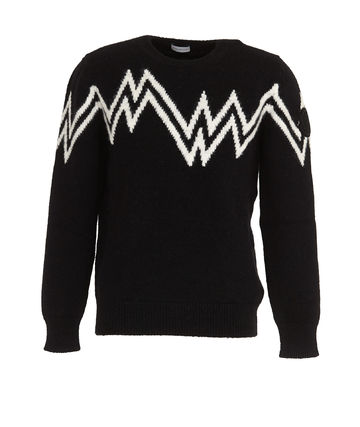 MONCLER Sweaters Crew Neck Pullovers Wool Nylon Street Style Long Sleeves 2