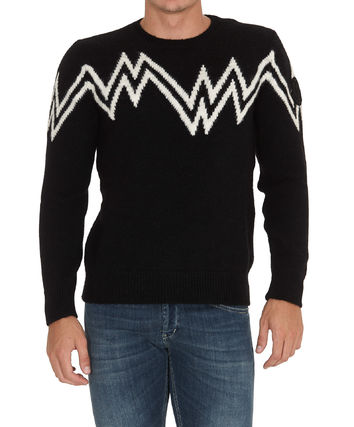 MONCLER Sweaters Crew Neck Pullovers Wool Nylon Street Style Long Sleeves 3